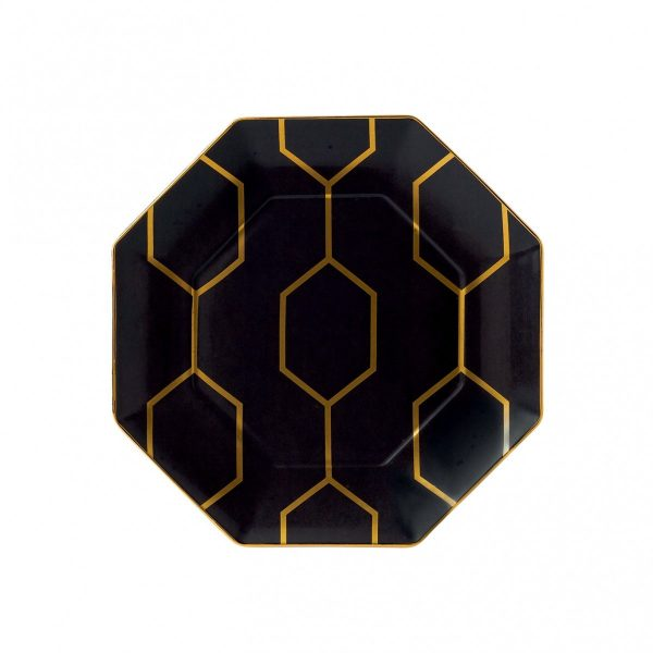 Arris Charcoal Accent Plate Octagonal