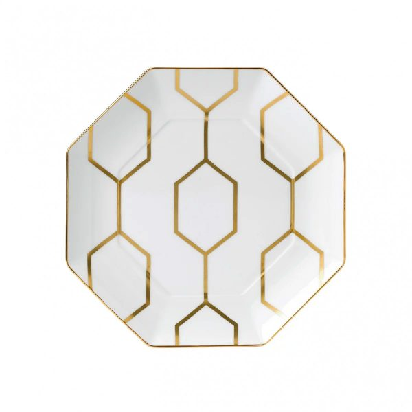 Arris White Accent Plate Octagonal